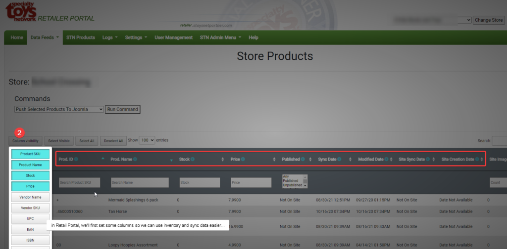 checking SKUs for sync across systems
